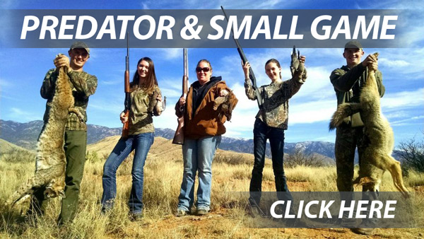 Arizona Predator and small game hunting